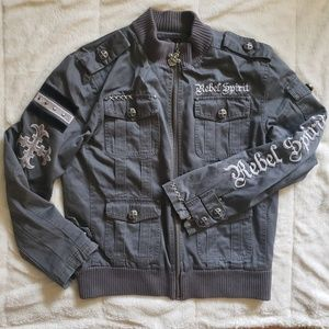 Rebel Spirit L Gray Embellished Jacket
